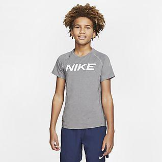 Nike Pro Big Kids' (Boys') Short-Sleeve Training Top