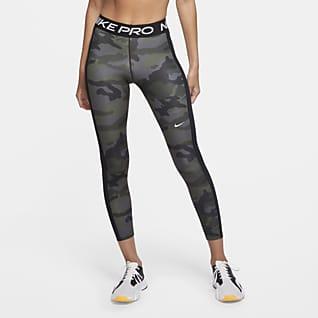 Nike Pro Женские слегка укороченные тайтсы с камуфляжным принтом