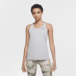 Nike Pro Camiseta de tirantes con correa y diseño de camuflado para mujer