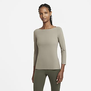 Nike Yoga Luxe Prenda para la parte superior de manga larga para mujer