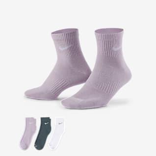 Nike Everyday Plus Lightweight 訓練過踝襪(3 雙)