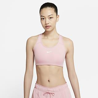 Nike Dri-FIT Swoosh Sport-BH mit mittlerem Halt und einteiligem Polster für Damen