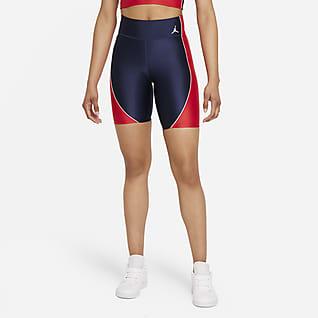 Jordan Essentials Calções tipo ciclista de cintura normal para mulher