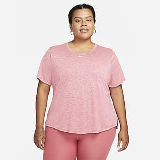 Nike Dri-FIT One Kortärmad tröja med standardpassform för kvinnor (Plus Size)