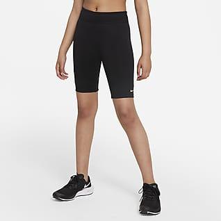 Nike Dri-FIT One Sykkelshorts til store barn (jente)