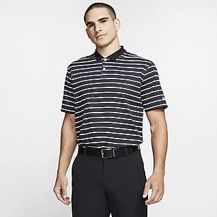 Nike Dri-FIT Victory Pánská golfová polokošile s proužky