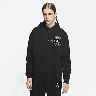 Paris Saint-Germain Felpa pullover in fleece con cappuccio e profilo - Uomo