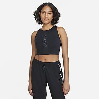 Nike Pro Camisola sem mangas com sutiã incorporado para mulher