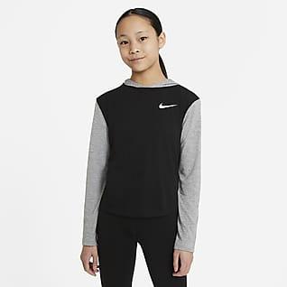 Nike Dri-FIT Trophy Sudadera de manga larga con capucha para niñas talla grande