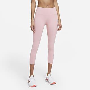 Nike Epic Luxe Leggings da running a lunghezza ridotta e vita media con tasca - Donna