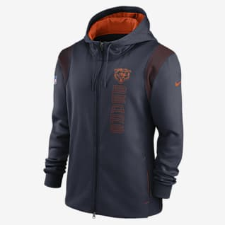 Nike Therma Sideline (NFL Chicago Bears) Men's Full-Zip Hoodie