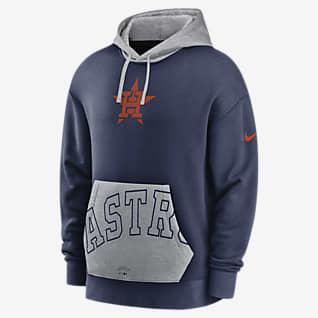 Nike Crop Pocket Heritage (MLB Houston Astros) Men's Pullover Hoodie