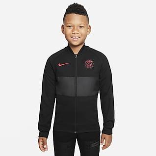Paris Saint-Germain Nike Dri-FIT-fodboldløbejakke til større børn