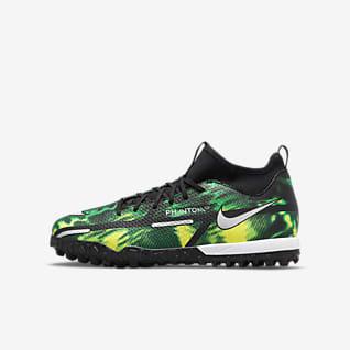 Nike Jr. Phantom GT2 Academy Dynamic Fit TF Little/Big Kids' Artificial-Turf Soccer Shoes