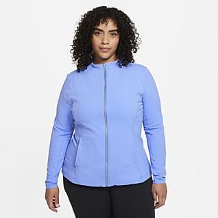 Nike Yoga Luxe Dri-FIT Chamarra de cierre completo para mujer (talla grande)