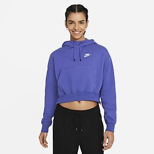 Nike Sportswear Essentials Sudadera con capucha de tejido Fleece para mujer