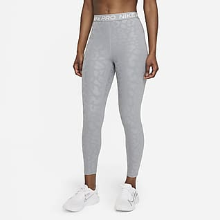 Nike Pro Dri-FIT Leggings de 7/8 de talle alto con estampado - Mujer