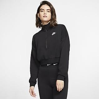 Nike Sportswear Essential Langarm-Kurzoberteil aus Fleece Damen
