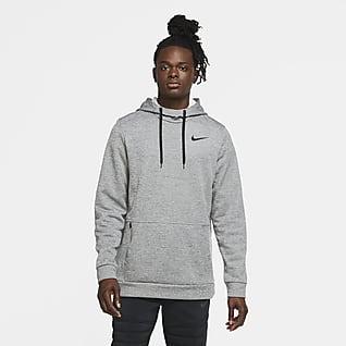 Nike Therma Sudadera con gorro de entrenamiento sin cierre para hombre