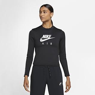 Nike Air Prenda para la parte superior tipo capa intermedia de running metalizada de manga larga para mujer