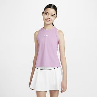 NikeCourt Dri-FIT Big Kids' (Girls') Tennis Tank