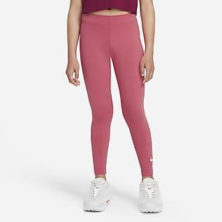 Nike Sportswear Favorites Legíny s logem Swoosh pro větší děti (dívky)