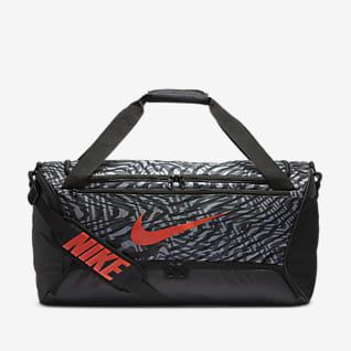 Nike Brasilia Bolso de lona de entrenamiento estampado (mediano)