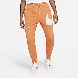 Nike Sportswear Swoosh Pánské kalhoty spoločesaným rubem