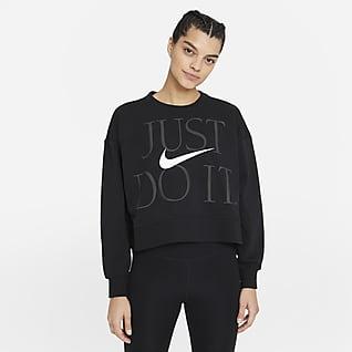 Nike Dri-FIT Get Fit Træningstrøje med rund hals til kvinder