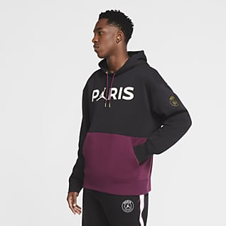 Paris Saint-Germain Felpa pullover in fleece con cappuccio - Uomo