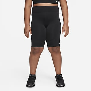 Nike Dri-FIT One Cykelshorts för tjejer (utökade storlekar)