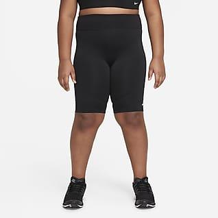 Nike Dri-FIT One Sykkelshorts til store barn (jente) (utvidet størrelse)