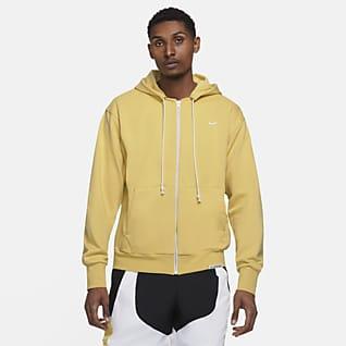 Nike Dri-FIT Standard Issue Basketballhættetrøje med lynlås til mænd