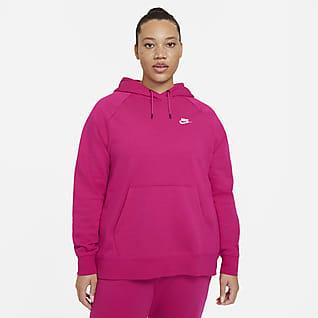 Nike Sportswear Essential Sudadera con capucha de tejido Fleece (Talla grande) - Mujer