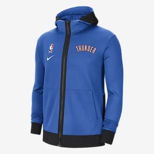 Oklahoma City Thunder Showtime Męska bluza z kapturem NBA Nike Therma Flex