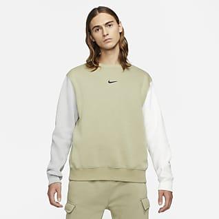Nike Sportswear Herentop van fleece met ronde hals en Swoosh