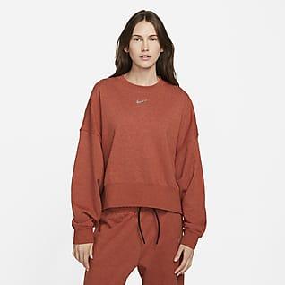 Nike Sportswear Collection Essentials Maglia a girocollo oversize in fleece - Donna