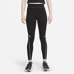 Nike Sportswear Swoosh Leggings i 7/8 lengde med grafikk og høyt liv til dame