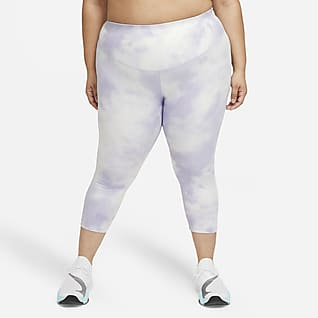 Nike One Icon Clash Avkortet leggings med mellomhøyt liv til dame (Plus Size)