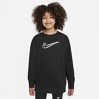Nike Sportswear Taneční mikina skulatým výstřihem pro větší děti (dívky)