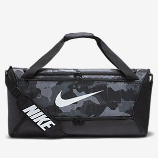Nike Brasilia Bolsa de lona de entrenamiento camuflajeada (mediana)