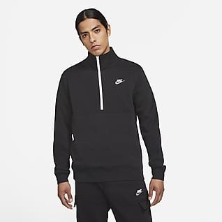 Nike Sportswear Club Pull à demi-zip en tissu brossé pour Homme
