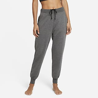 Nike Yoga Γυναικείο παντελόνι φόρμας 7/8 από ύφασμα French Terry