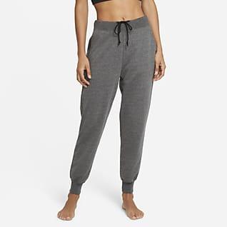 Nike Yoga 7/8-joggingbroek van sweatstof voor dames