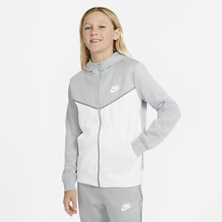 Nike Sportswear Felpa con cappuccio e zip a tutta lunghezza - Ragazzo