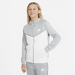 Nike Sportswear Mikina s kapucí a zipem po celé délce pro větší děti (chlapce)