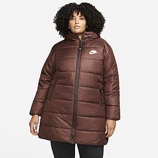 Nike Sportswear Therma-FIT Repel Parka med hætte til kvinder (plus size)
