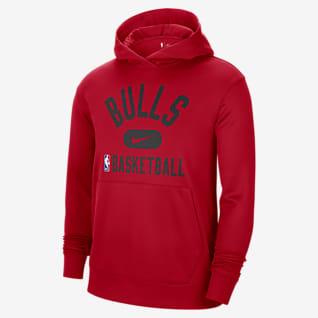 Chicago Bulls Spotlight Nike Dri-FIT NBA Erkek Kapüşonlu Sweatshirt'ü