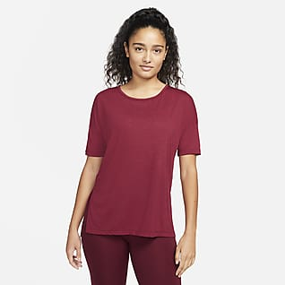 Nike Yoga Kortärmad tröja för kvinnor