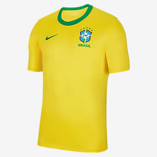 Brazil Home Men's Short-Sleeve Football Top